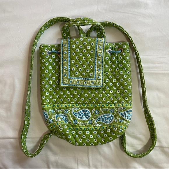 Vera Bradley Green Backpack Purse